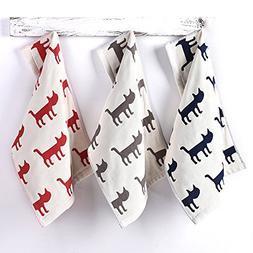 DHG 3 Shabu Towels, Face Wash, Cotton Four Layer Gauze Long