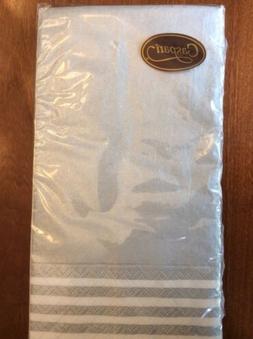 CASPARI Silver Stripe Paper Linen Guest Towels Buffet Dinner