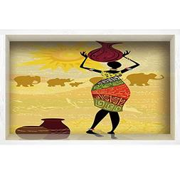 iPrint 3D Depth Illusion Vinyl Wall Decal Sticker,African Wo