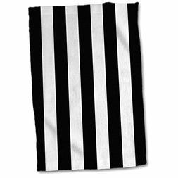 3D Rose Black and White Pattern-Vertical Stripy Stripey Stri