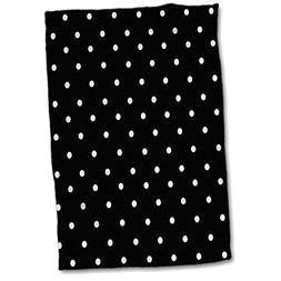 3D Rose Black and White Polka Pattern-Small Dots-Stylish Cla