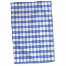 3D Rose Dark Blue and White Gingham Pattern-Cute Navy Retro