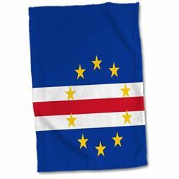 3D Rose Flag Verde Island Country - Cape Verdean Dark Navy B