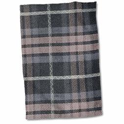 3D Rose Grey Tartan Pattern-Gray and Black Scottish Checks-T