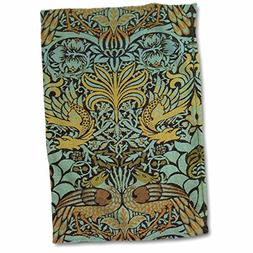 3D Rose Image of William Morris Peacock & Dragon in Gold & A