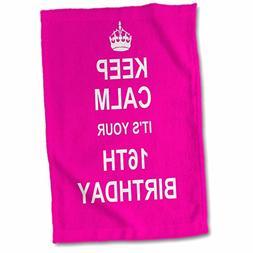 3dRose 3D Rose Keep 16Th Birthday-Hot Pink Girly Girls Fun S