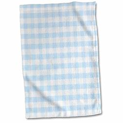 3D Rose Light Blue and White Gingham Pattern-Pretty Country