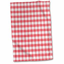 3D Rose Red and White Gingham Pattern-Retro Checkered Checke
