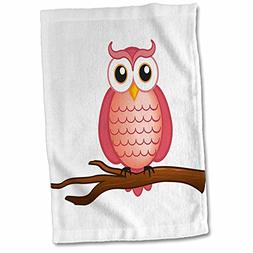 """3D Rose Red Wise Owl Towel, 15"""" x 22"""", Multicolor"""