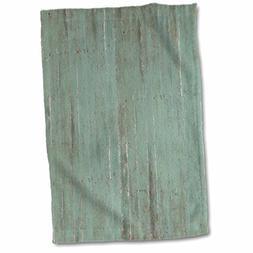 "3D Rose Rustic Green Wood Look twl_183265_1 Towel, 15"" x 22"""