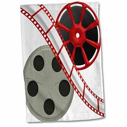 3dRose 3D Rose Two Reels with Movie Tape Down the Middle Ill