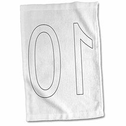 3dRose Numbers - 10-15x22 Hand Towel