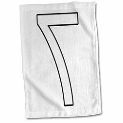 3dRose Numbers - Number 7-15x22 Hand Towel