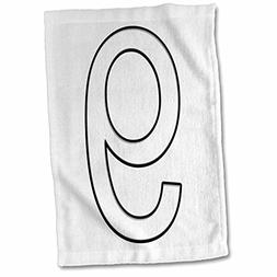 3dRose Numbers - Number 9-15x22 Hand Towel