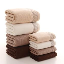 3pcs/set Cotton Terry Towels Set For Adults Face Bathroom Ha