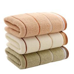 3pcs/set Hand Towels Eco-friendly Cotton Striped Comfortable