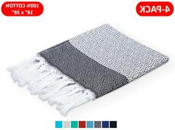 100% TURKISH COTTON HAND TOWELS 18x38 FACE HAIR BATH GUEST