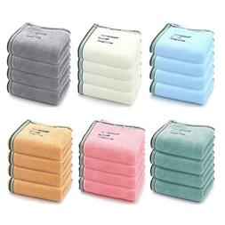 4 Pack Hand Towels Large 100% Cotton Absorbent Gym Towels Be