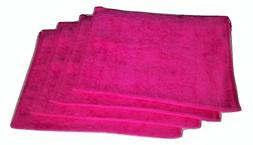 "Show Car Guys 4 Pack 11"" x18"" Hot Pink Fingertip Towels 100%"