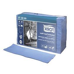 Tork 440278 Industrial 4-Ply Top-Pak Paper Wipers, Blue