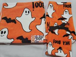 4pc Halloween Ghost Bath Hand Fingertip Bath Towel Set NWT