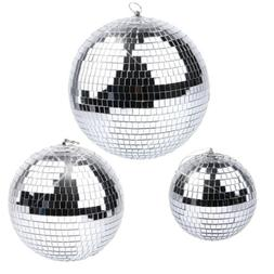 6/8/10/12 Inch Disco Mirror Ball Glass Party Xmas Light DJ S