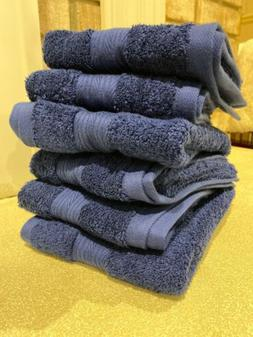 6 bathroom hand towels