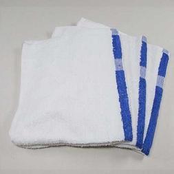 6 new white blue center stripe hand bar towels hotel 16x27 a