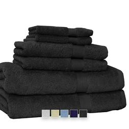 6 Piece Luxury Towel Set 100% Cotton Highly Absorbent Soft H