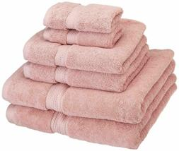 6 pieces 100 percent cotton towel set