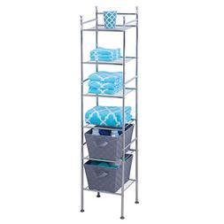 Honey-Can-Do 6-Tier Metal Tower, Chrome