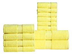 Wicker Park 600 GSM Ultra Soft 100% Cotton 12 Piece Towel Se