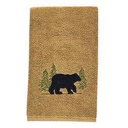 "Park Designs 680-81 Black Bear Terry Hand Towel 28"" x 16"""
