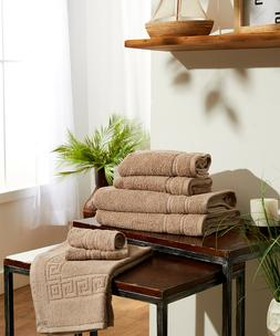 7 Piece Bath Towel Set Bonus Bath Mat 100% Ring Spun Cotton