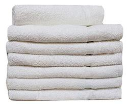 36 NEW WHITE  HOTEL HAND TOWELS 100% COTTON 10/S WEAVE THIN
