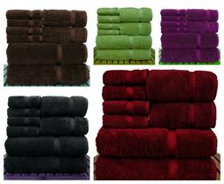 8 Pcs100% Super Absorbent Egyptian Cotton Soft & Highly Abso