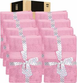 8 Piece Towel Set Black 2 Bath Towels 2 Hand Towels 4 Wash C
