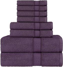 8 Piece Towel Set includes Bath Towel Hand Towel Washcloth U