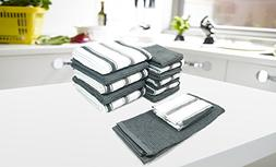 Popular Bath 859942 14 Piece Chef Stripe kitchen/Dish cloth