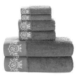 900 GSM Luxury Bathroom 6-Piece Towel Set,100% Premium Long-