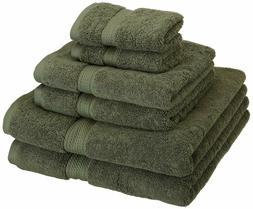 Superior 900 GSM Luxury Bathroom 6-Piece Towel Set, Made of