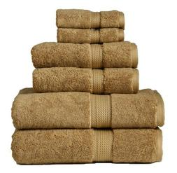 900GSM Egyptian Cotton 6-Piece Towel Set Toast