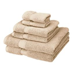 900GSM Egyptian Cotton 6-Piece Towel Set Chocolate