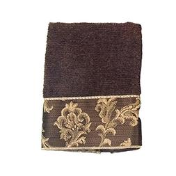 Avanti Linens Damask Fringe Hand Towel, Mocha