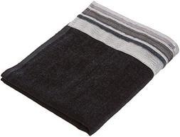 Avanti Linens Geneva Hand Towel, Black/Silver