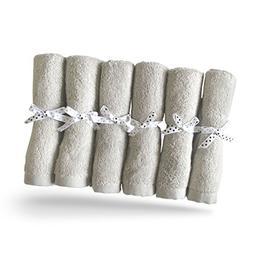 Brooklyn Bamboo Baby Washcloth Wipes 6 Pack Organic, SOFT, L