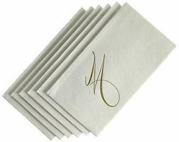 Caspari - Disposable Folded Bathroom Hand Towel, White Pearl