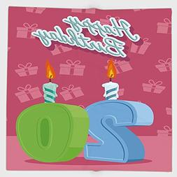 Cotton Microfiber Hand Towel,20th Birthday Decorations,Birth