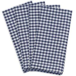 KAF Home Gingham Napkins in Navy & White Woven Check, Set of