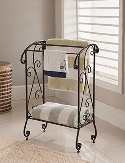 Kings Brand Furniture - Coffee Brown Metal Free Standing Tow